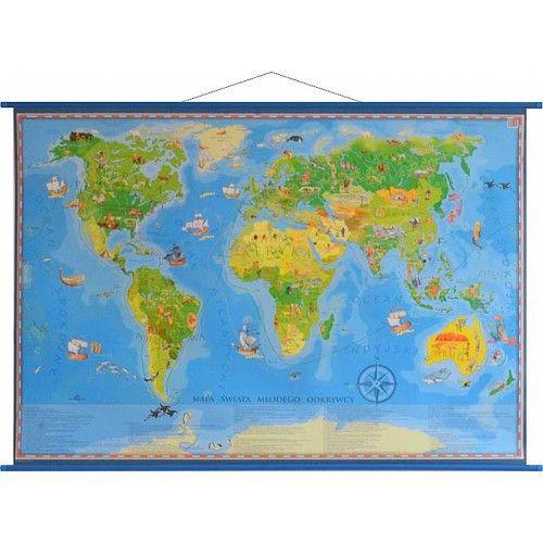 Świat Młodego Odkrywcy mapa ścienna dla dzieci ArtGlob tylko 57,90zł w ArtTravel.pl