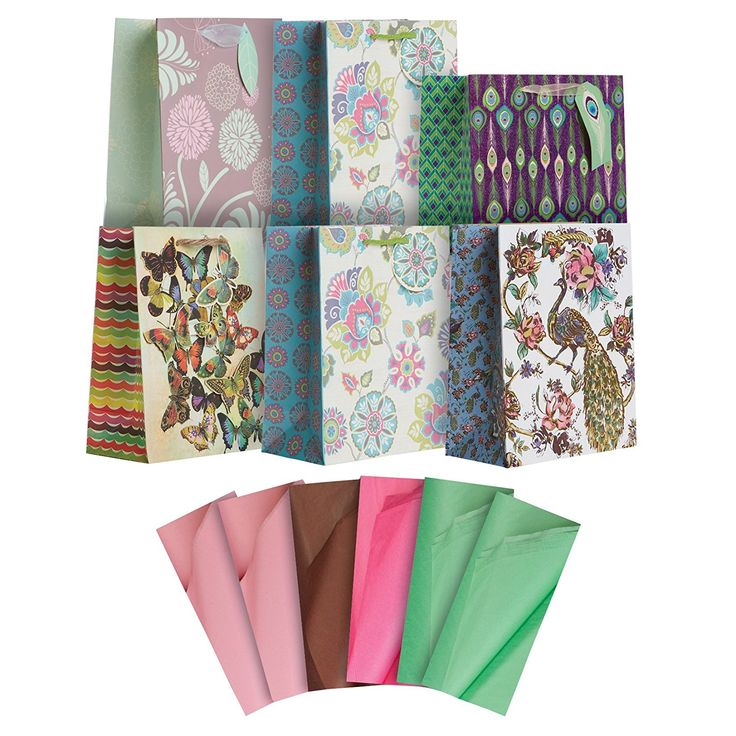 Jillson Roberts Floral Medium Gift Bags in Assorted Designs with Tissue, Graceful Gardens, 6-Count (ETMT004) >>> Read more  at the image link.