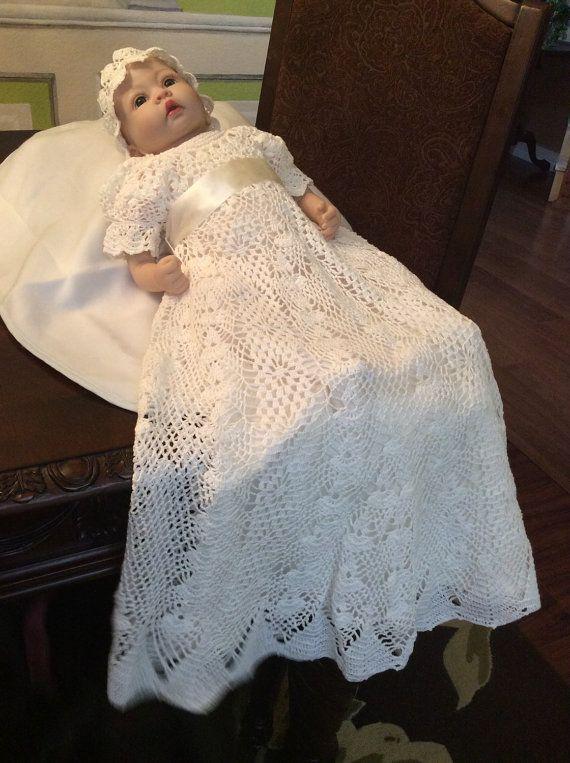 Heirloom Vintage Style Christening Gown Crochet Pattern