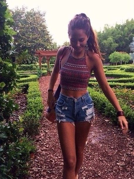 shirt boho hippie gypsy paisley denim shorts tanktop halter top hippie boho gypsy indie shorts please tell me where to get this 911