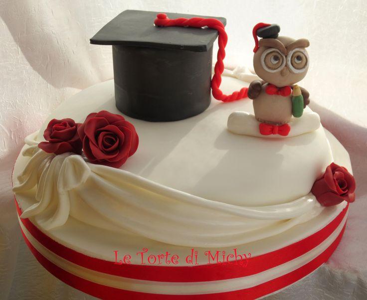 Torta Laurea Cappello e Gufetto