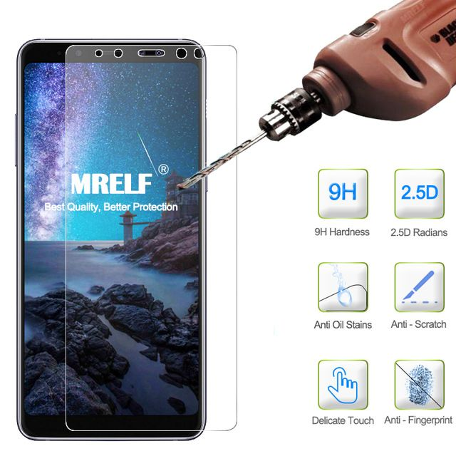 2 5d 9h Tempered Glass Samsung A8 2018 For Samsung A8 Plus 2018 Screen Protector On Phone Protective For A8 Plus 2018 Phone Phone Screen Protector Mobile Phone