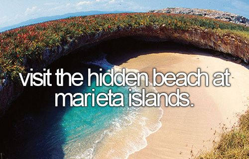 visit the hidden beach at marieta islands.