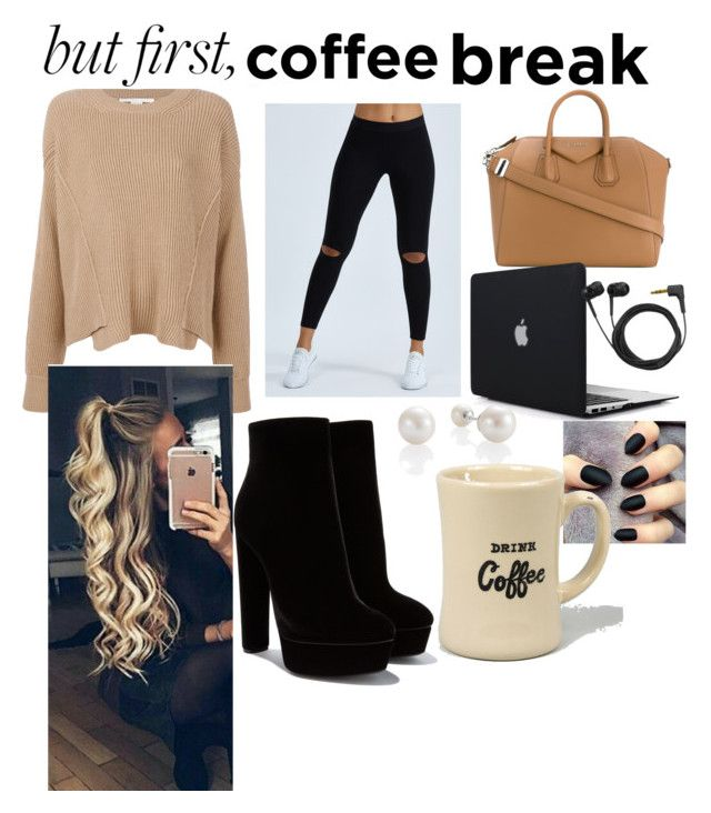 """~But first, coffee break~"" by amberurena58 ❤ liked on Polyvore featuring STELLA McCARTNEY, Joah Brown, Givenchy and Sennheiser"