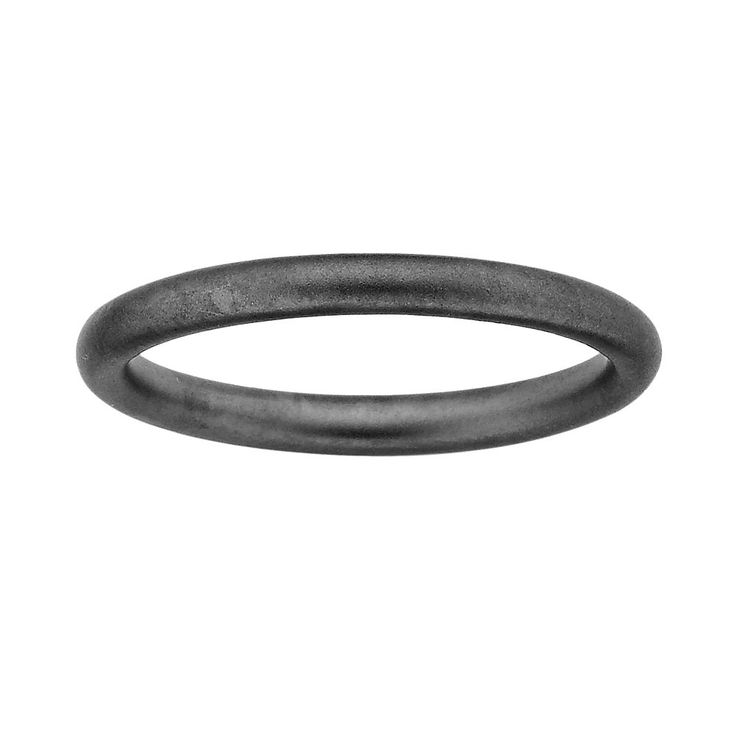 Stacks and Stones Ruthenium-Plated Sterling Silver Satin Finish Stack Ring, Women's, Size: 10, Black