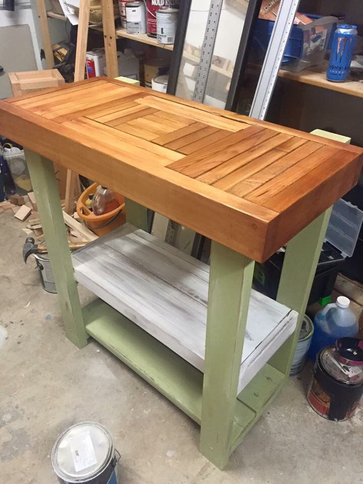 Garden Bench, Gardening, Side Table, Kitchen Island. Farm Table, Benches,