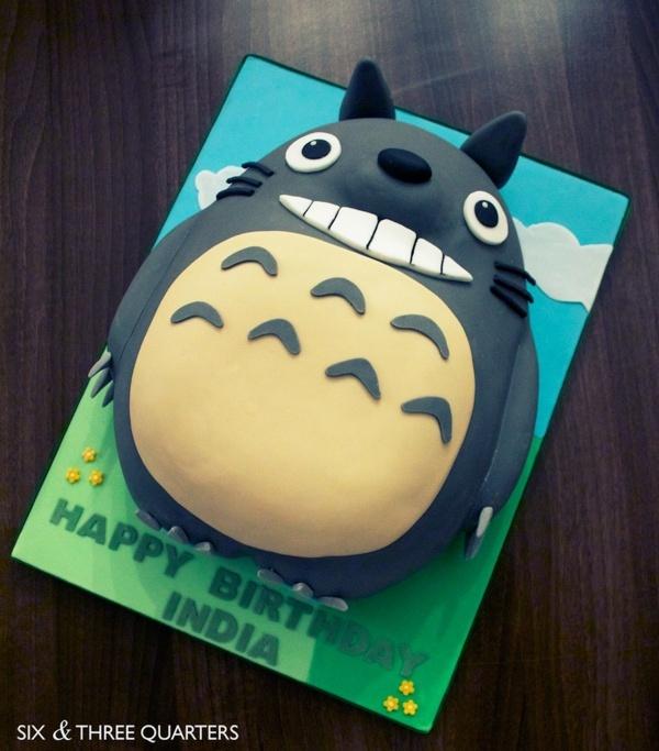 Totoro Birthday Cake by Andrea Hillman, via Behance