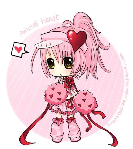amulet heart chibi