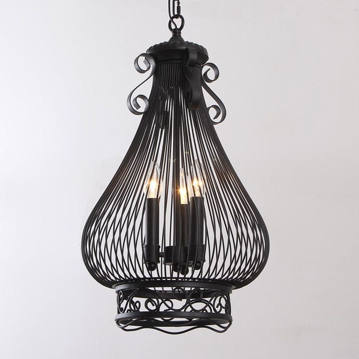 Best Classic Black American Pastoral Candle Holder Pendant Lights E14 3 Heads Hand Plated Bar/Cafe/Aisle/Room Decorative Hanging Lamp Under $912.26 | Dhgate.Com