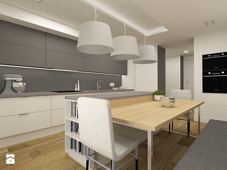 Nowoczesna kuchnia w apartamencie w Tomaszowie Mazowieckim - zdjęcie od design me too