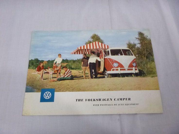 Vintage  VW VOLKSWAGEN Camper Westfalia Deluxe Fold out DEALER BROCHURE