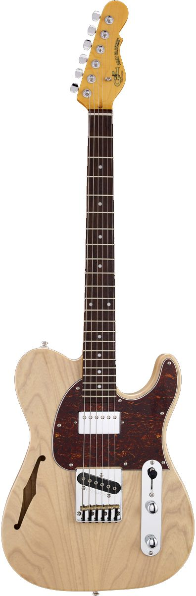 The G&L ASAT® Classic Bluesboy™ is a factory-modded version of Leo's final word on the traditional single-cutaway bolt-on guitar, and the semi-hollow version takes it further with G&L's distinctive twin voice chambers and f-hole added to a beautiful swamp ash body. Like its solid-body stablemate, this axe delivers a well-balanced pairing of a G&L alnico humbucker designed by Paul Gagon and a single-coil G&L Magnetic Field Design™ bridge pickup designed by Leo Fender†. Fram...