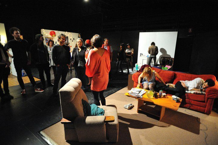 """""""Something Just Happened"""" directed by Harriet Gillies 2011 PACT  Designed by Victor Kalka"""
