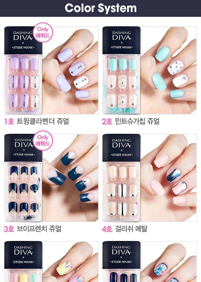 Etude House Dashing Diva Magic Press 20 Types Diva Nails Impress Nails Salon Gift Card