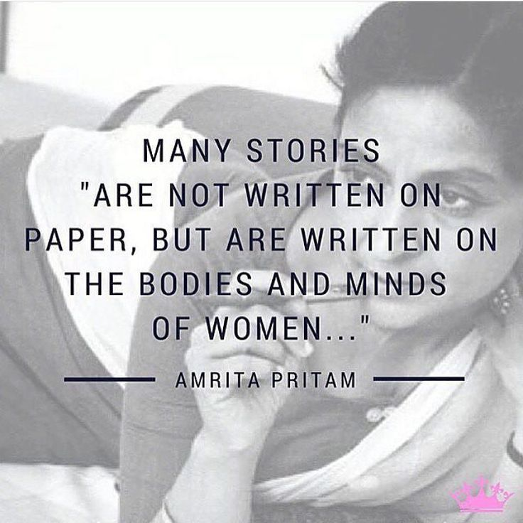 Amrita Pritam (1919-2005) was the first prominent female Punjabi poet, novelist and essayist. Her explicitly feminist work acknowledges women's desires and independence -- inspiring women to take responsibility of their lives.