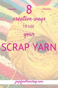 8 creative ways to use your scrap yarn. Crochet for beginners, Crochet Gifts, Crochet ideas, Easy crochet ideas, Free crochet ideas, Free crochet inspiration, Crochet ideas for beginners, Crochet ideas for experienced crocheters, Crochet ideas to sell, Crochet ideas for home, Crochet ideas for her, Crochet inspiration creative, Crochet inspiration projects, Crochet inspiration patterns, scrap yarn crochet inspiration, scrap yarn crochet ideas.  Repin this to read, learn & keep it forever.