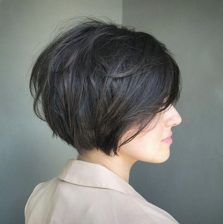 Short Tousled Bob with Side Bangs #shortbobwithban…