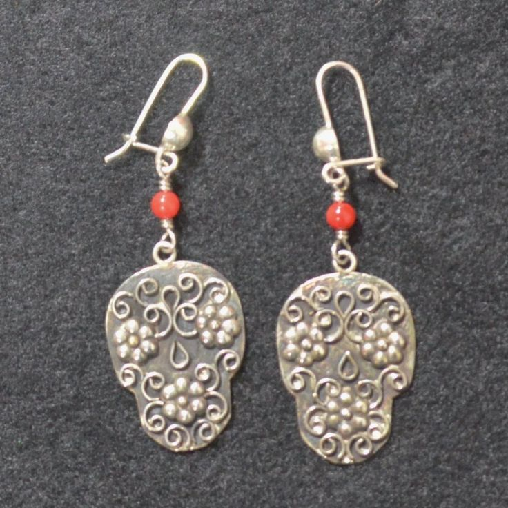 Jewelry - Hand Crafted Mexican Silver Skull Earrings