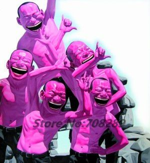 Китай известный современный художник minjun юэ хип-хоп улыбающееся лицо холст современный декоративные абстрактное искусство walloil живопись 56