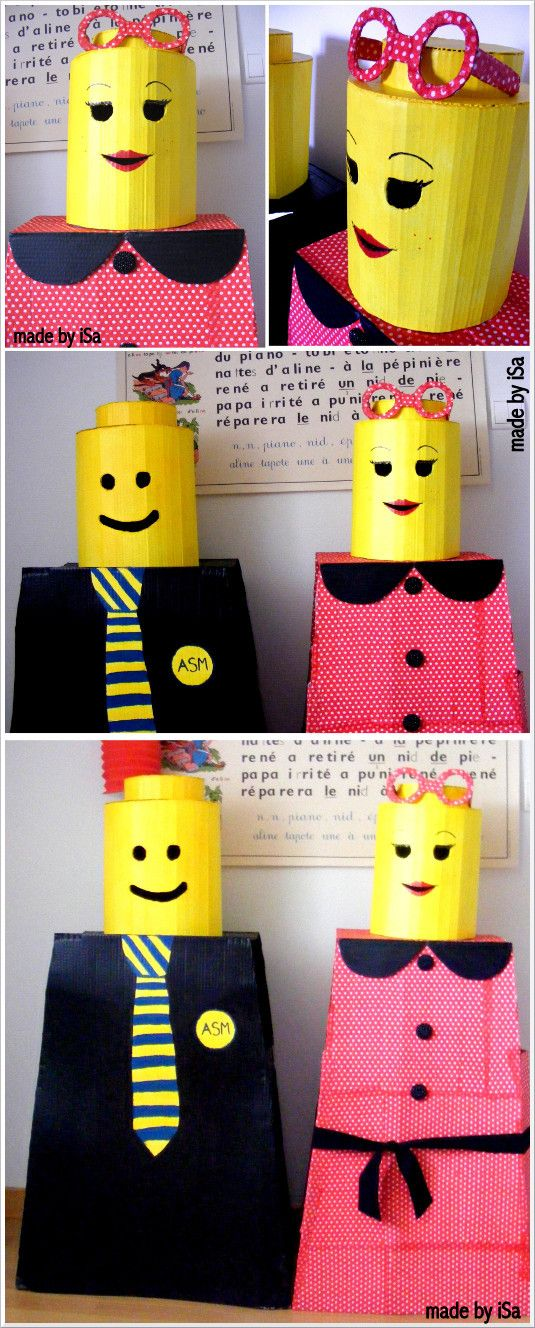 Déguisements LEGO en carton - made by iSa # LEGO costumes