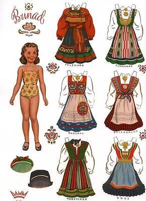 Norwegian paper dolls