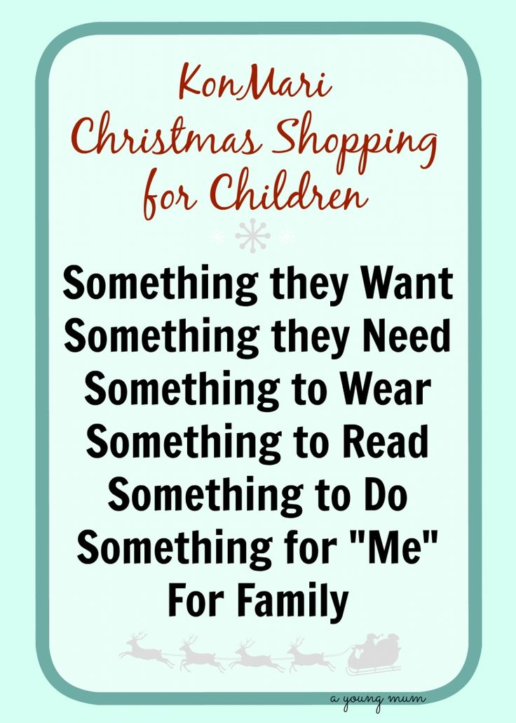 Keep Christmas shopping simple for children this year by using this KonMari inspired category list when buying!