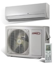 Lennox Mini-Split Air Conditioner. Great for renovated attics, over-the-garage rooms, or anywhere ductwork isn't accessible.