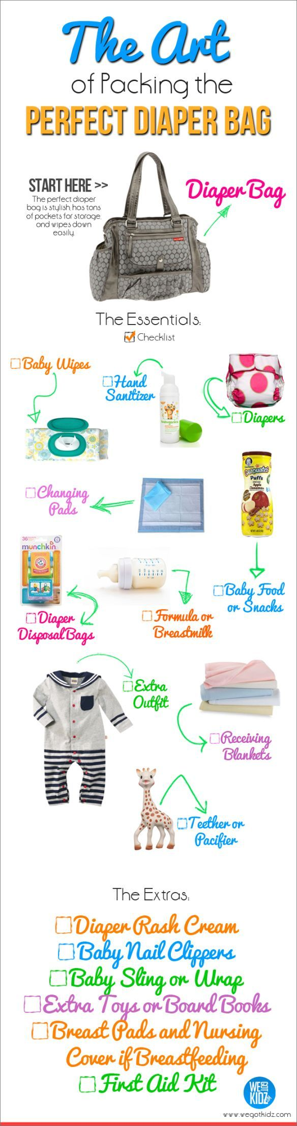 What to Pack in a Diaper Bag: How to Pack One Like a Pro - Because there is an art to packing that diaper bag. diapers from www.diaperdabbler.com in perfectly packed 3 packs, fit beautifully in a diaper bag. We Got Kidz
