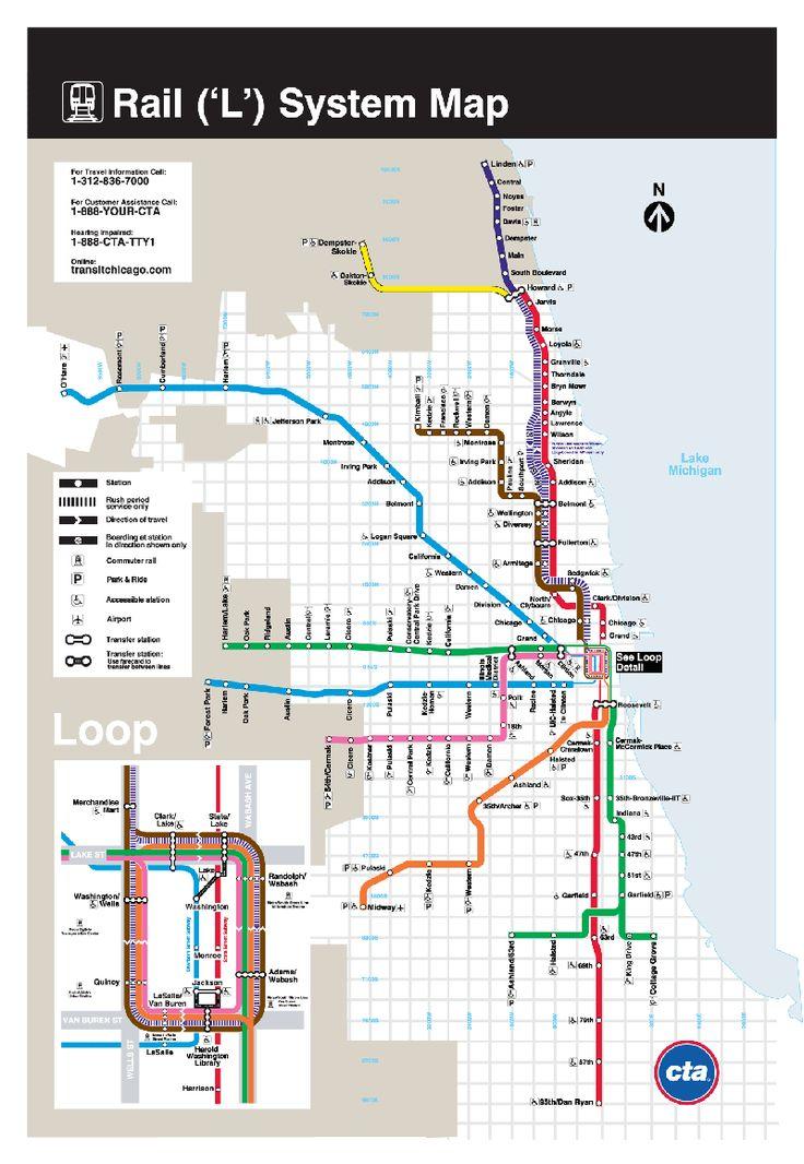 Le système de métro se compose de 8 lignes qui se rejoignent dans un quadrilatère appelé boucle (historiquement Union Boucle) situé dans le centre de la ville ou il est possible de combiner entre cinq des huit lignes (ligne brun, verte, rose, violette et oranje). Des trois autres lignes, la Ligne Bleue et la Ligne Rouge, elles opèrent souterrain sous la boucle, étant connectées avec les stations de la boucle et la Ligne Jaune, ni se connecte ni traverse la boucle.…