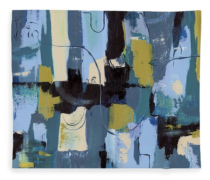 """Spa Abstract 2 Fleece Blanket (50"""" x 60"""") by Debbie DeWitt. Our luxuriously soft throw blankets are available in two different sizes and feature incredible artwork on the top surface. The bottom surface is white."""