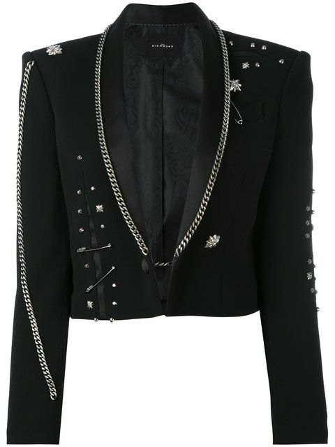 JOHN RICHMOND Fortim Chain Embellished Jacket. #johnrichmond #cloth #jacket
