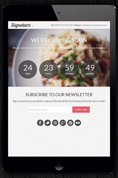 Responsive website fits to any device.  Website can be seen from Mobile device: iPhone, Andriod, iPad, Blackburry.