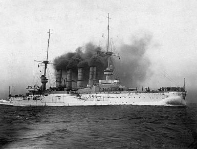 German armoured cruiser SMS Scharnhorst.  Photograph Courtesy of the US Naval History & Heritage Center