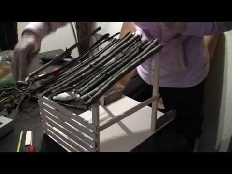 Krippe selber bauen | Basteln zu Weihnachten - YouTube
