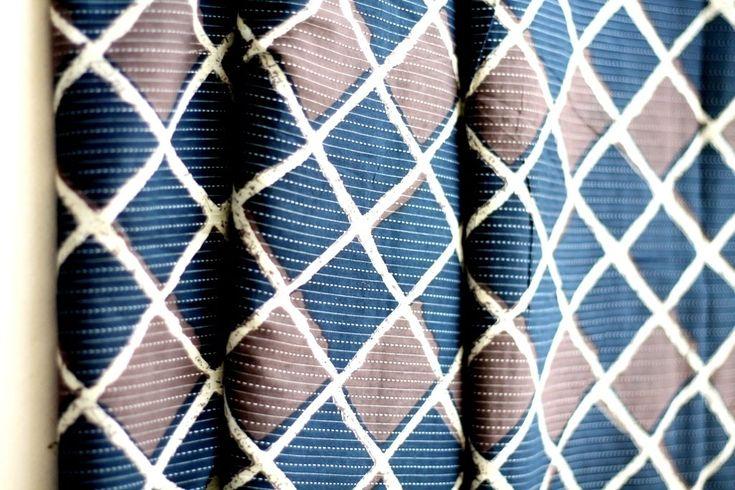 Indigo blue and grey diamond stripe cotton fabric - kantha sashiko style ₹150.00 Indigo blue and grey diamond stripe cotton fabric with sashiko or kantha style printhttps://shop.chezvies.com/#!/Indigo-blue-and-grey-diamond-stripe-cotton-fabric-kantha-sashiko-style/p/104718681