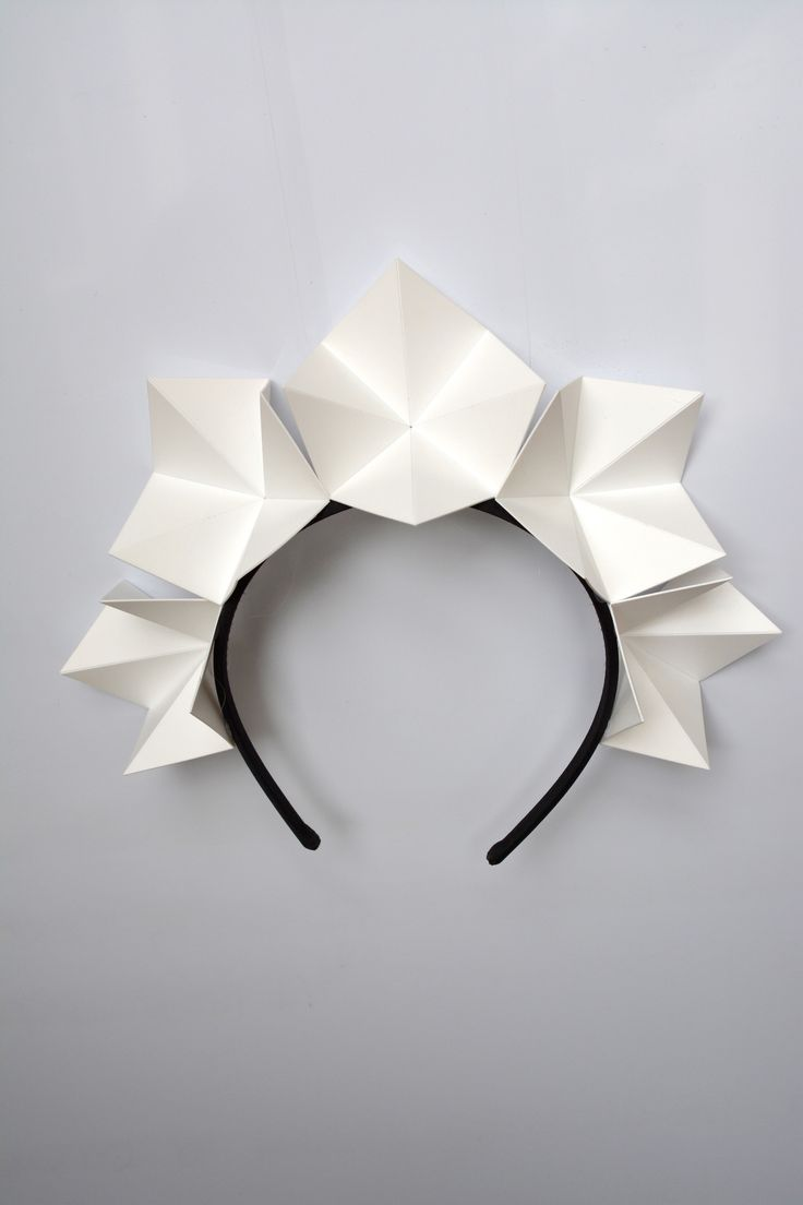 """""""Ice-Flower Crown"""" white origami crown by FORD MILLINERY"""