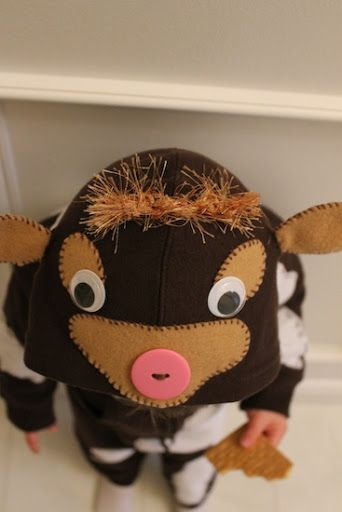 how to make a toddler cow costume