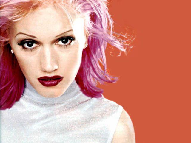 Gwen Stefani, pink hair