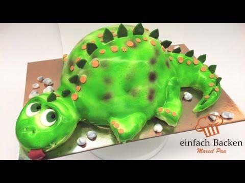 Dinosaurier 3D Airbrush Torte | Dino Cake | Kinder Geburtstagstorte - von einfachBacken Schweiz - YouTube