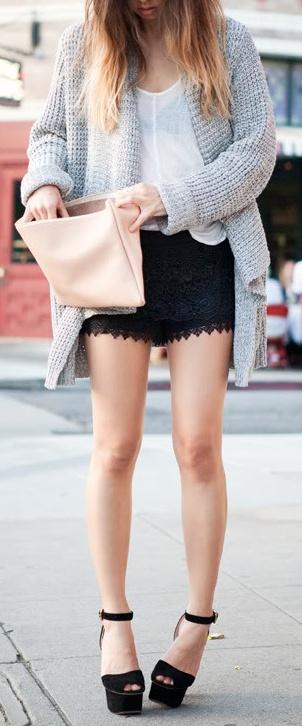 cheap nike run shoes lace shorts  chunky knit cardi  My Estilo