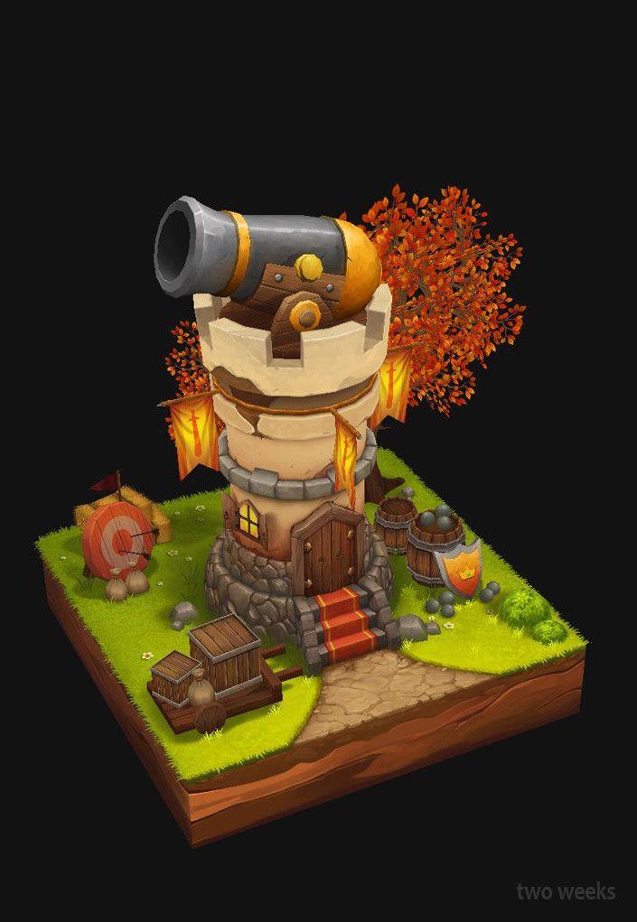 cannon castle, two weeks on ArtStation at https://www.artstation.com/artwork/Wl30D