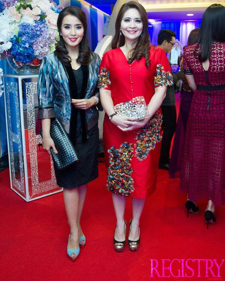 Mrs. Sendy Yusuf & Mrs. Correta Kapoyos at @MissIndo_RCTI Final Night took place at Studio RCTI Jakarta on the 24th February 2016 #RegistryE #Event