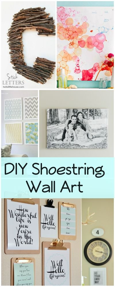 DIY Shoestring Wall Art Ideas and Projects • Love these inexpensive wall art ideas!