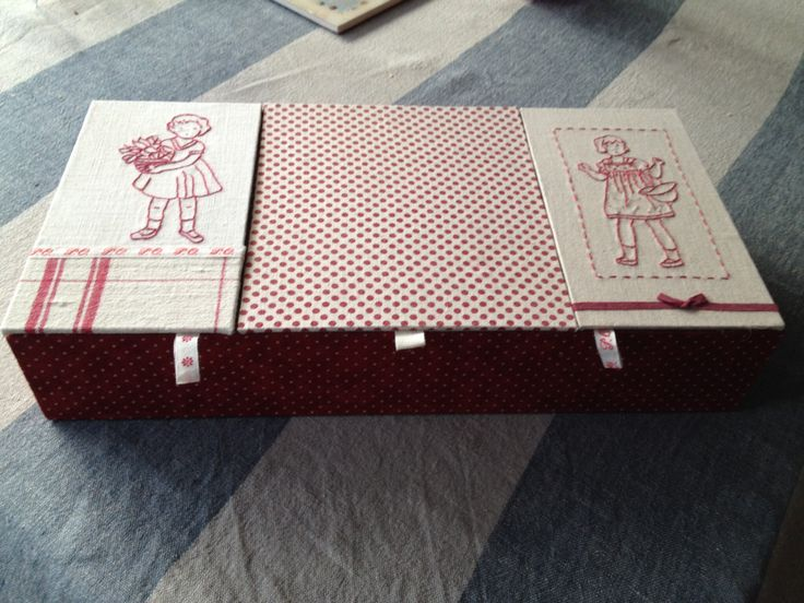 Point de tige pour jolie boîte en cartonnage