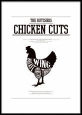 Chicken cuts, print
