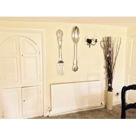 Fork and Spoon Antique Wall Décor