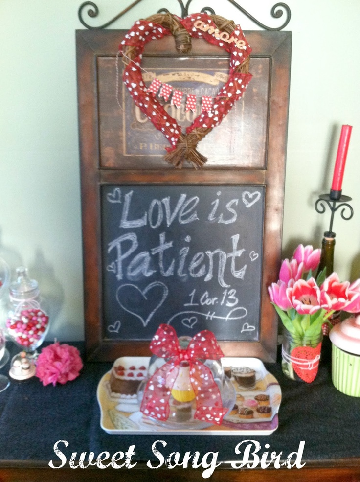 "Sweet Song Bird: ""Love is Patient"" Valentine's Day Decor"