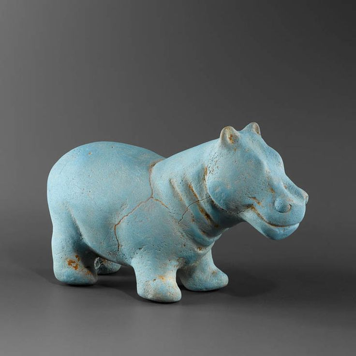 Egyptian Faience Hippopotamus 24940 Culture : Egyptian Period : Late Period (Persian Period, 6th–4th century B.C.) Material : Faience