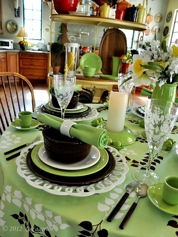 So Creative & Detailed ! Mint Chocolate Chip Tablescape