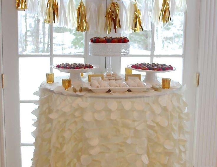 "Gold & champagne / Birthday ""Elegant Champagne Birthday Brunch"" | Catch My Party"